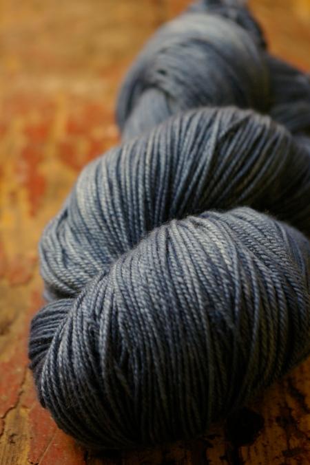 Wool/ silk: indigo