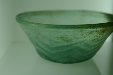 Chevron glass bowl