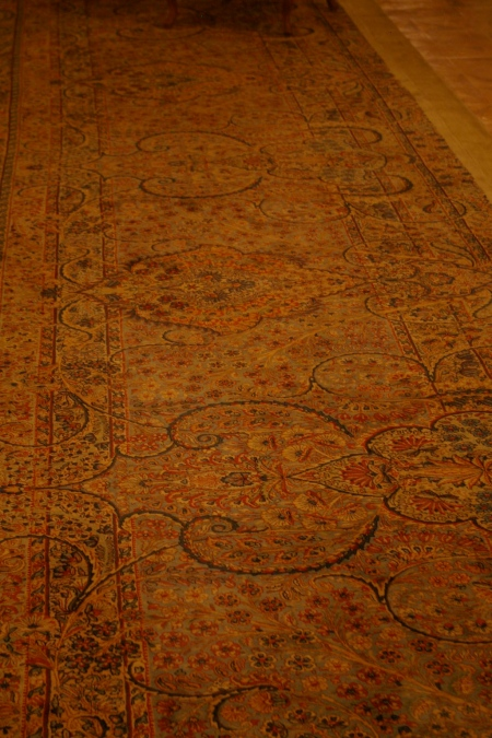Carpet in the Shah's summer palace, northern Tehran