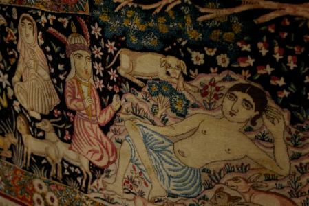Detail, silk carpet