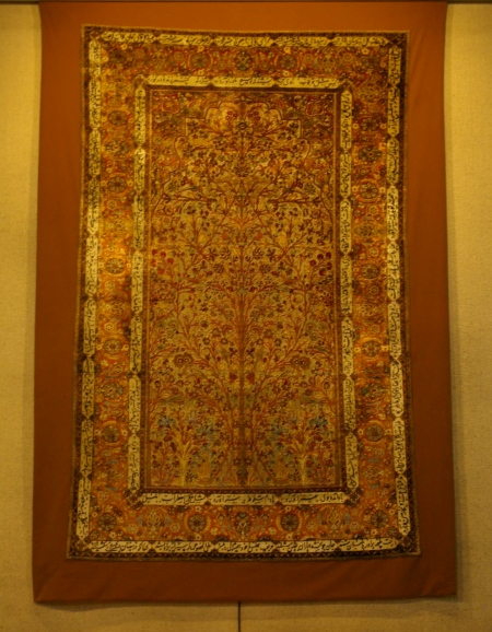 Early silk carpet
