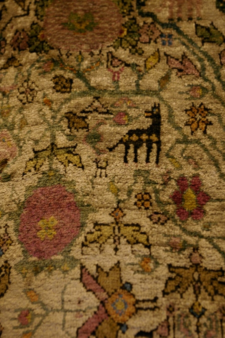 Detail of wool carpet