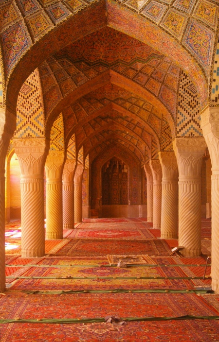 Carpets in the Pink Mosque, Shiraz