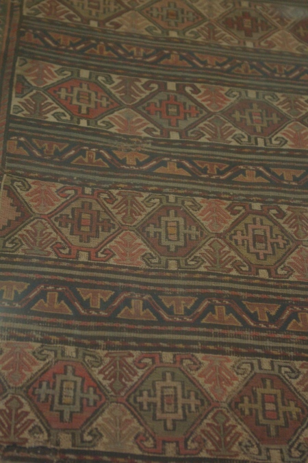 Armenian knotted wool carpet