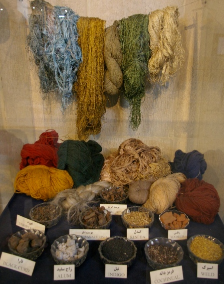 Traditional dyetuffs used for carpet yarns